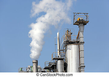 Industrial refinery plant