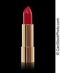 Lipstick on a black background