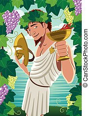 Dionysus - The god of wine Dionysus / Bacchus proposing...