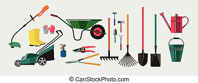 Tools for working in the garden and kailyard -...