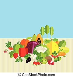 Basics of healthy nutrition - Composition of fresh...