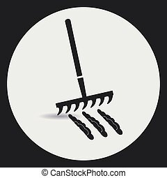 Rake to loosen the soil. - Gardening. Rake to loosen the...