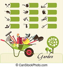 Icons on the theme of organic farming. Symbols stages of cultivation of plants.