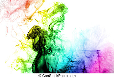 colorido, smoke, ,