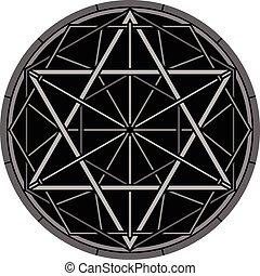 magic hexagram. vector illustration