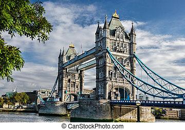 torre, Puente, en, londres, inglaterra,