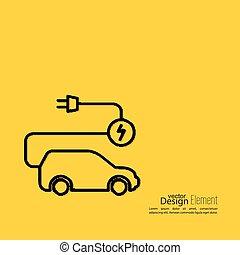 Icon of a hybrid car.