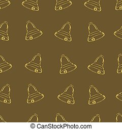 Seamless contour of hand bells - Seamless textures with...