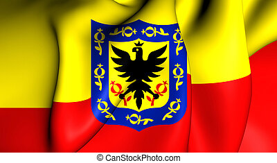Flag of the Bogota, Colombia. - 3D Flag of the Bogota,...