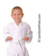 Karate Kid - Young boy dressed wearing a karate outfit