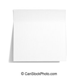 White  sticky note  - White sticky note with shade