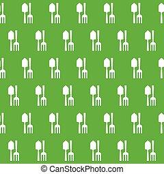 Gardening Tools Pattern. - Gardening Tools Pattern Vector.