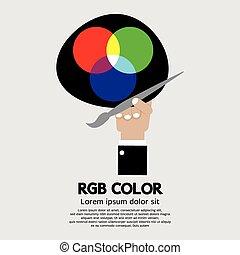 RGB Color Palette. - RGB Color Palette Vector Illustration.
