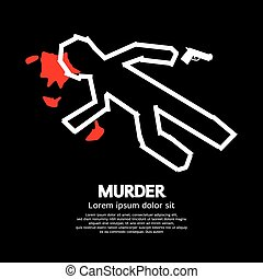 Murder. - Murder Vector Illustration.