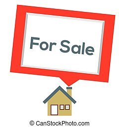 Home For Sale. - Home For Sale Vector Illustration.