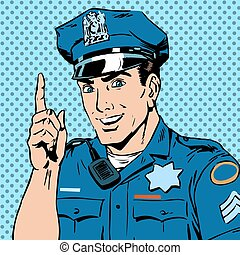 police officer warns draws attention profession smile law...