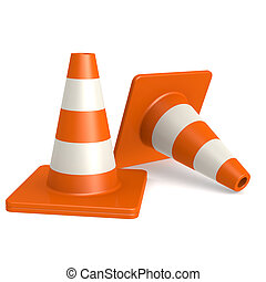 Traffic cones image with hi-res rendered artwork that could...