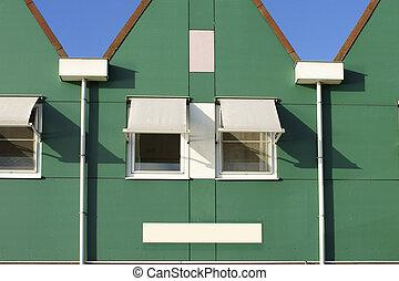 Distinctive Gable - A Dutch house with a triangular gable...