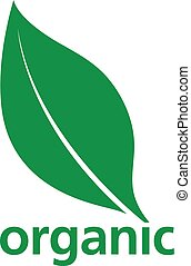 Organic green leaf logo design with the silhouette of a...