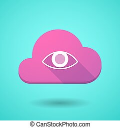 Cloud icon with an eye
