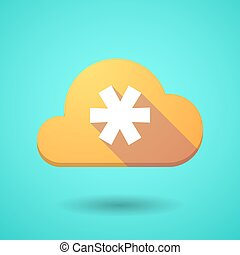 Cloud icon with an asterisk - Illustration of a cloud icon...