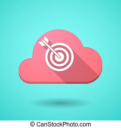 Cloud icon with a dart board - Illustration of a cloud icon...