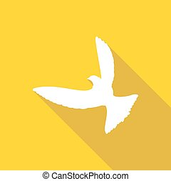 Icon Dove of Peace with a long shadow