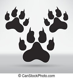 footprints illustration