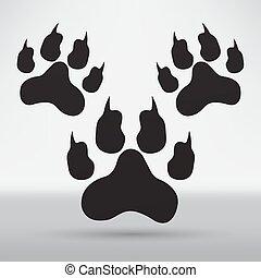 footprints illustration