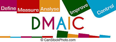 DMAIC Colorful Stripes And Squares - DMAIC concept image...