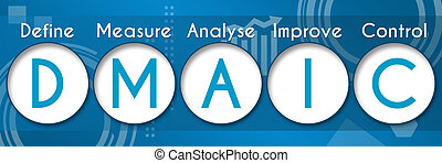 DMAIC Business Theme Circles - DMAIC concept image with text...