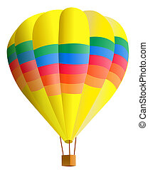 hot air balloon - illustration drawing of beautiful hot air...
