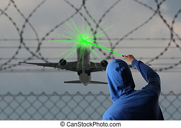 Starting Airplane blinded with a Laserpointer - A Starting...