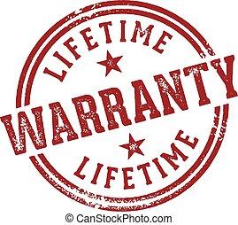 Lifetime Warranty Stamp - Rubber stamp design for lifetime...