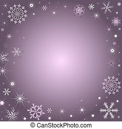 Christmas background with snowflakes - Christmas lilas...