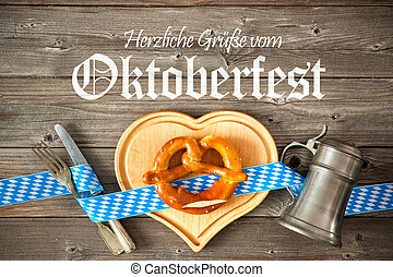 Background for Oktoberfest - Oktoberfest beer festival...