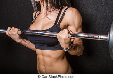Female bodybuilder - Body of a muscular female bodybuilder...