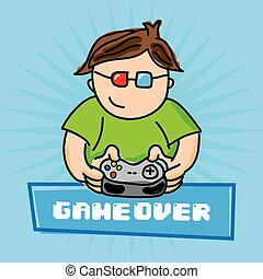 video games design, vector illustration eps10 graphic