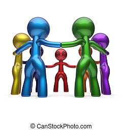 Social network teamwork human resources people unity
