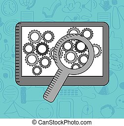 setup icon design, vector illustration eps10 graphic