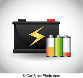 battery power design, vector illustration eps10 graphic