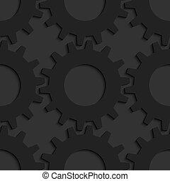 Black 3d gears