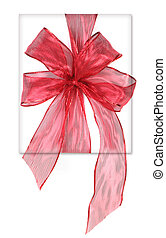 Beautifully Wrapped Red Birthday or Christmas Present