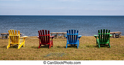 colorful adirondack chairs - Colorful wooden adirondack...