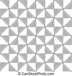 Gray striped rotated triangles - Monochrome abstract...
