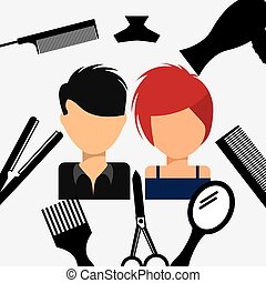 beauty salon design, vector illustration eps10 graphic