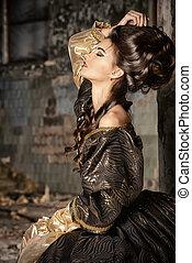 fashion history - Art Fashion. Beautiful young woman in...
