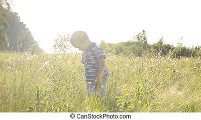 little boy on the field
