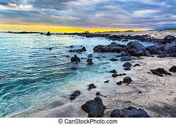 Galapagos Beach at Sunset