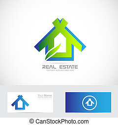 Eco house - Vector company logo icon element template eco...